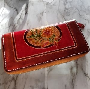 New leather embossed women's wallet